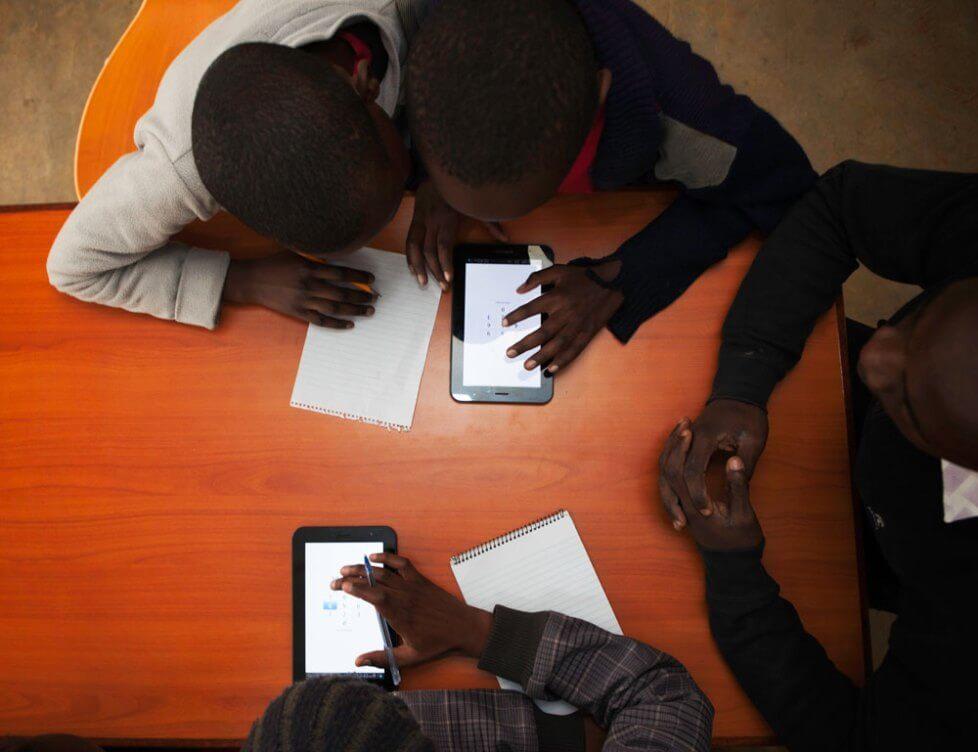eLimu at Kibera Library, Nairobi, Nov 2014 by Nathan Heidt