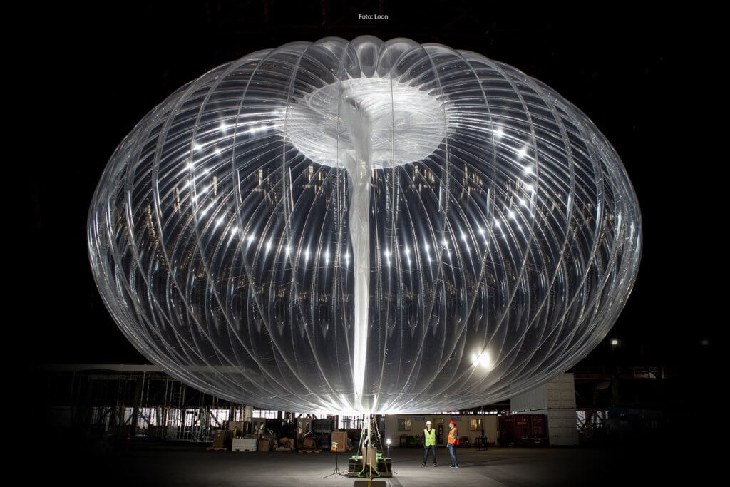 Project Loon: ein Internetballon in voller Pracht