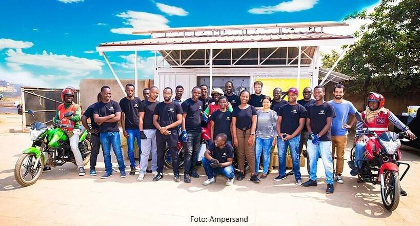 E-Motorräder in Ruanda: Millionen-Deal für Ampersand