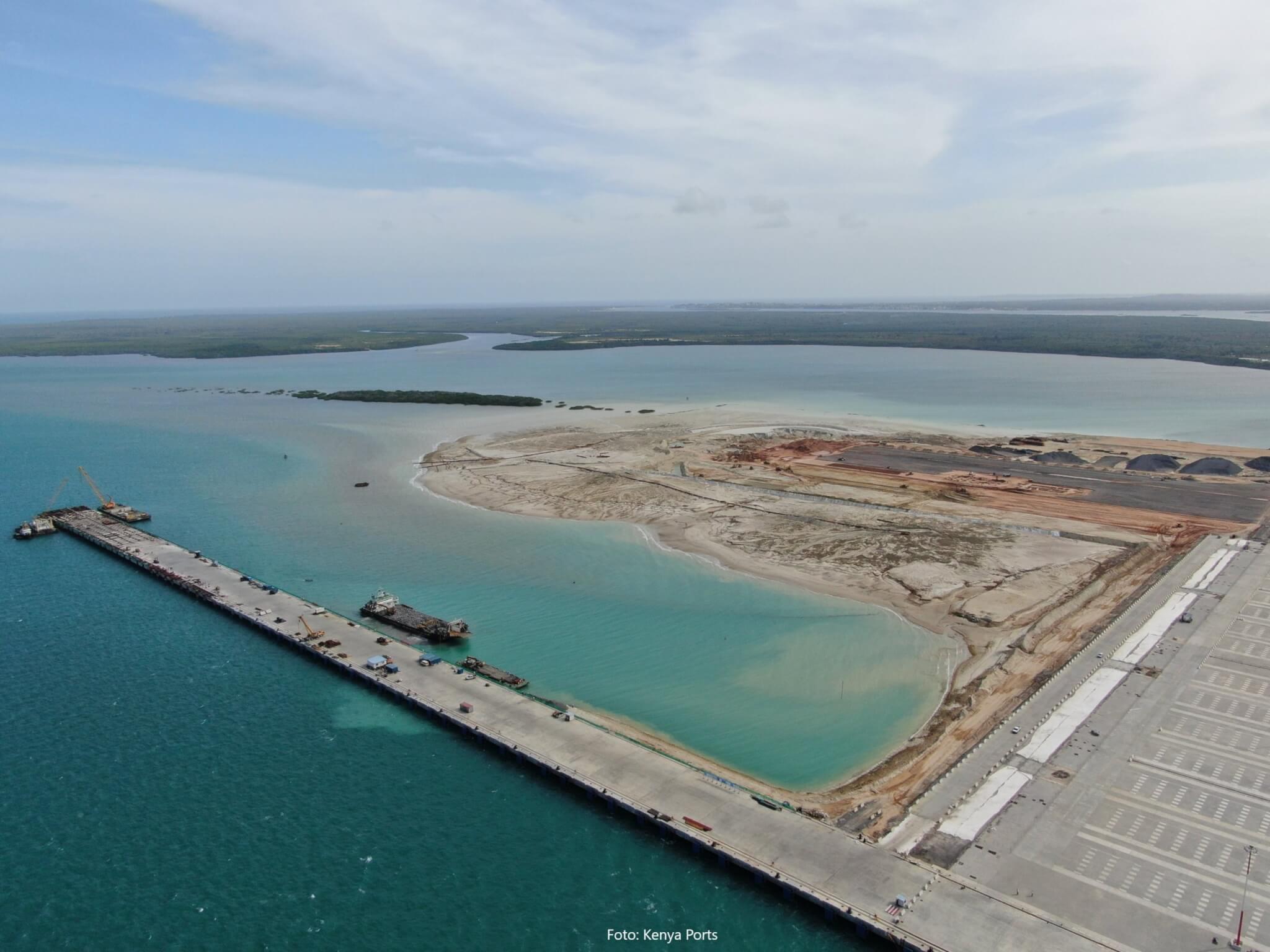 Lamu Port in Kenia